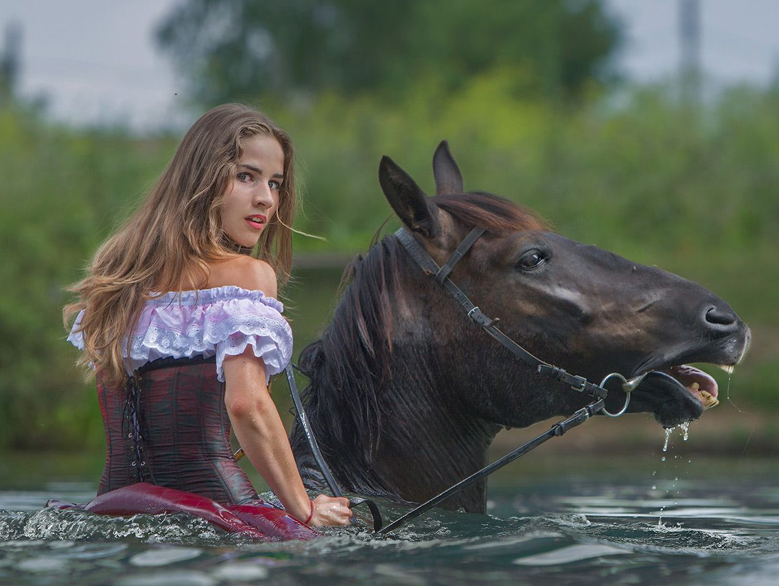 Снилось мне | Девушка и лошадь, Фото с лошадьми, Животные
