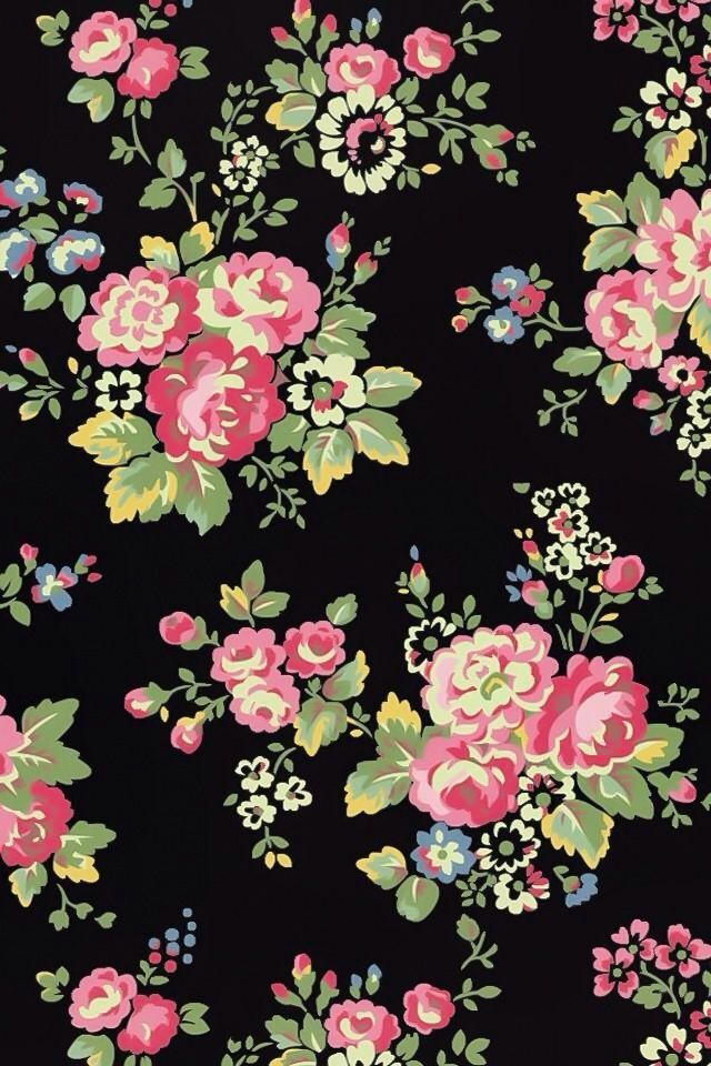 Black And Pink Flower Wallpapers Wallpaperpulse Images