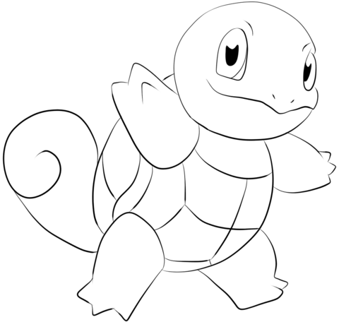 Squirtle Coloring Page From Generation I Pokemon Category