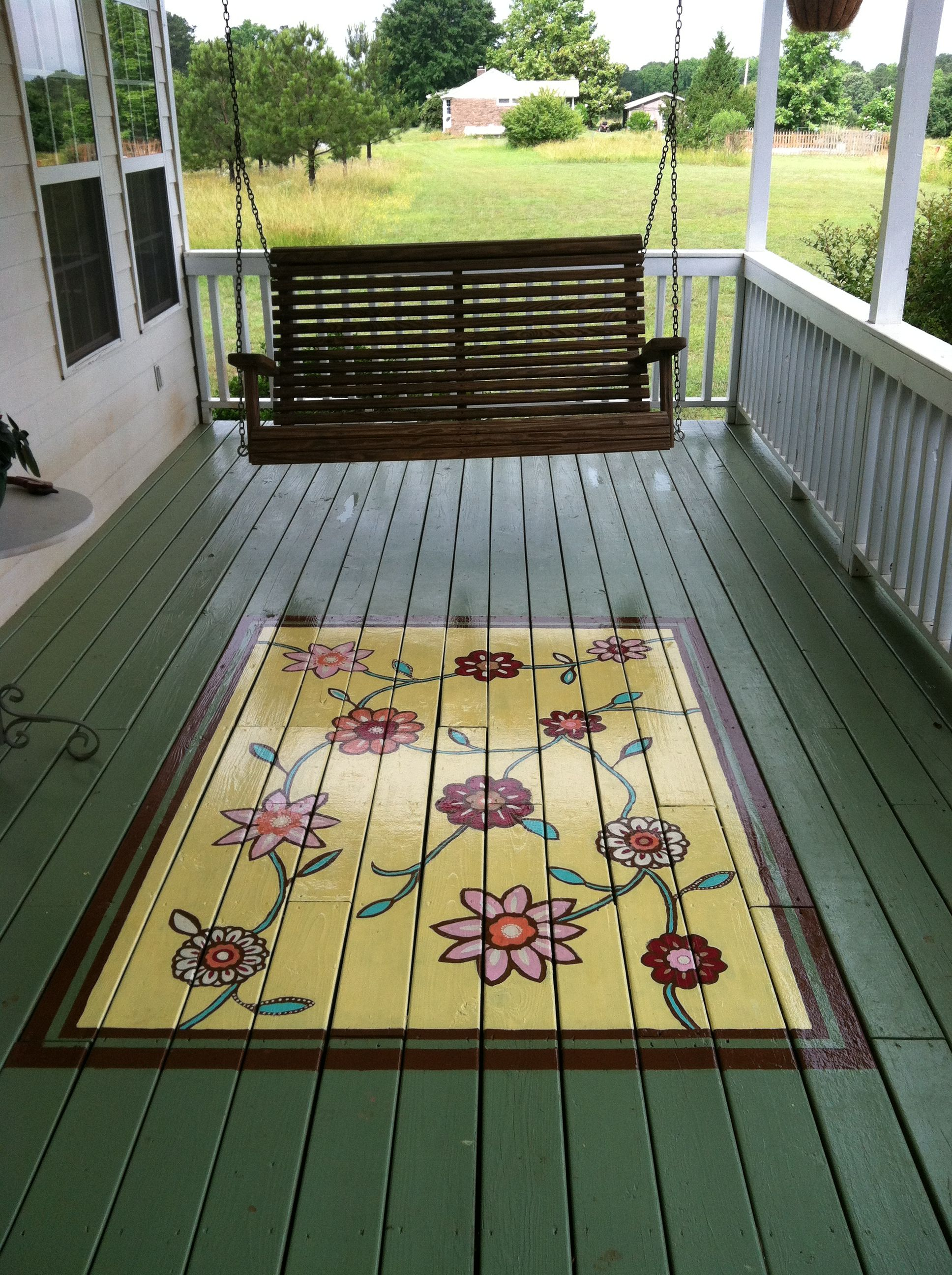 Painted porch rug | For the porch | Pinterest | Porch ...