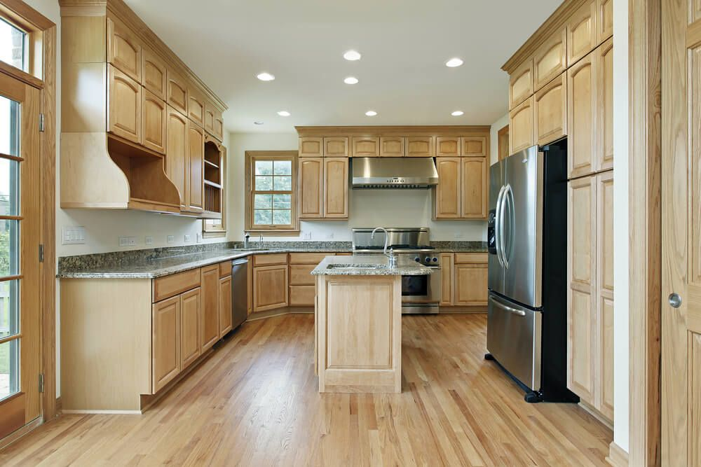 43 New And Spacious Light Wood Custom Kitchen Designs Light Wood Kitchens Light Wood Cabinets Kitchen Cabinets Models