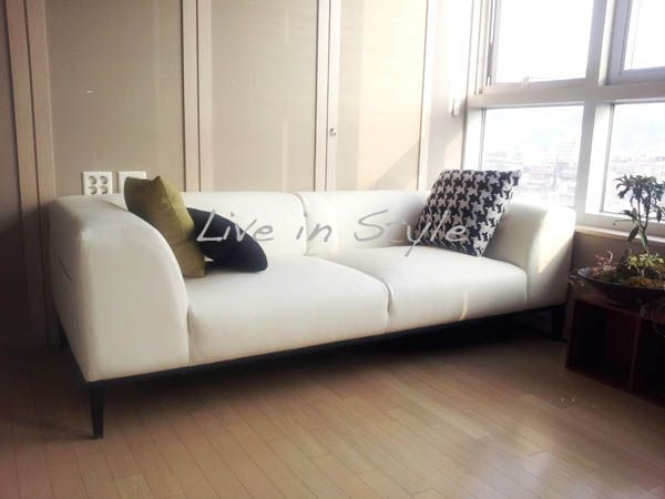 Max2631 White Leather 3 Seater 3 Seater Leather Sofa Sofa