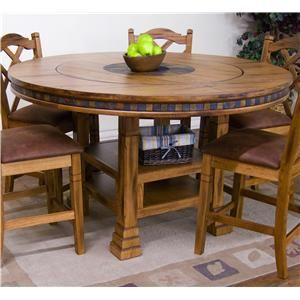 Table With Lazy Susan Built In