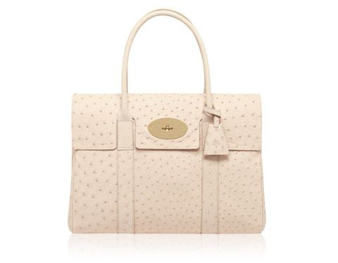 ac3934581d Mulberry s Baywater bag in marshmallow white ostrich -  skywatchlife ...