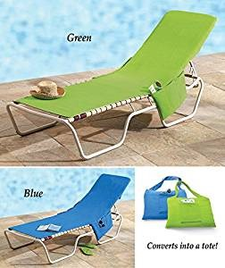 Fabulous Beach Lounge Chair Cover Towel Tote Bag Green Products Pabps2019 Chair Design Images Pabps2019Com