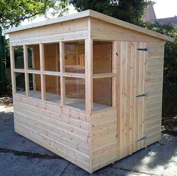 the gardener wooden potting shed 8 x 6 ft