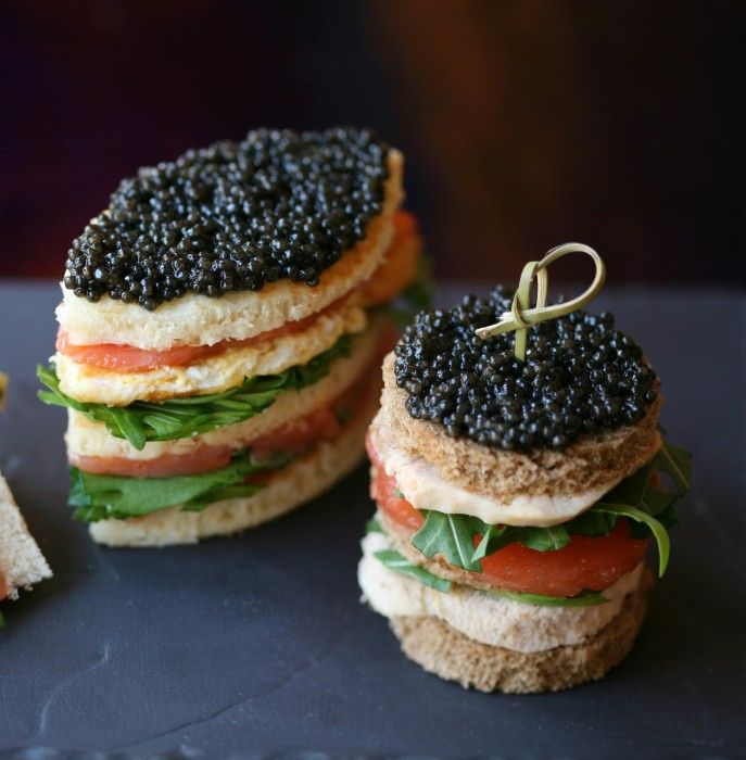 Club sandwich au caviar, Restaurant Cafe Prunier  | Eats