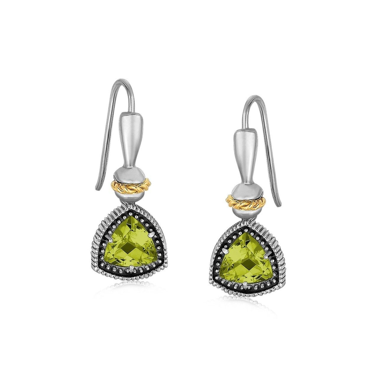 Uniquepedia.com - 18K Yellow Gold and Sterling Silver Trilliant Cut Peridot Drop Earrings, $224.00 (http://www.uniquepedia.com/18k-yellow-gold-and-sterling-silver-trilliant-cut-peridot-drop-earrings/)