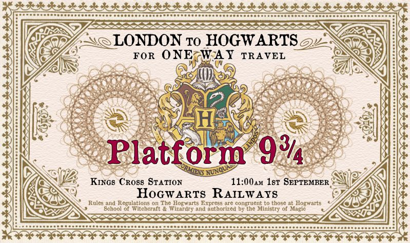 Modest image throughout hogwarts express ticket printable