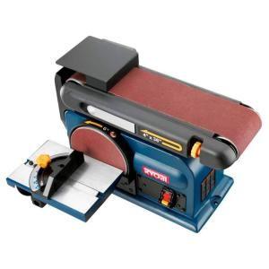 Home Depot 4 In X 36 In Belt Disc Sander Bd4601 120 Ryobi Woodworking Machine Bench Sander