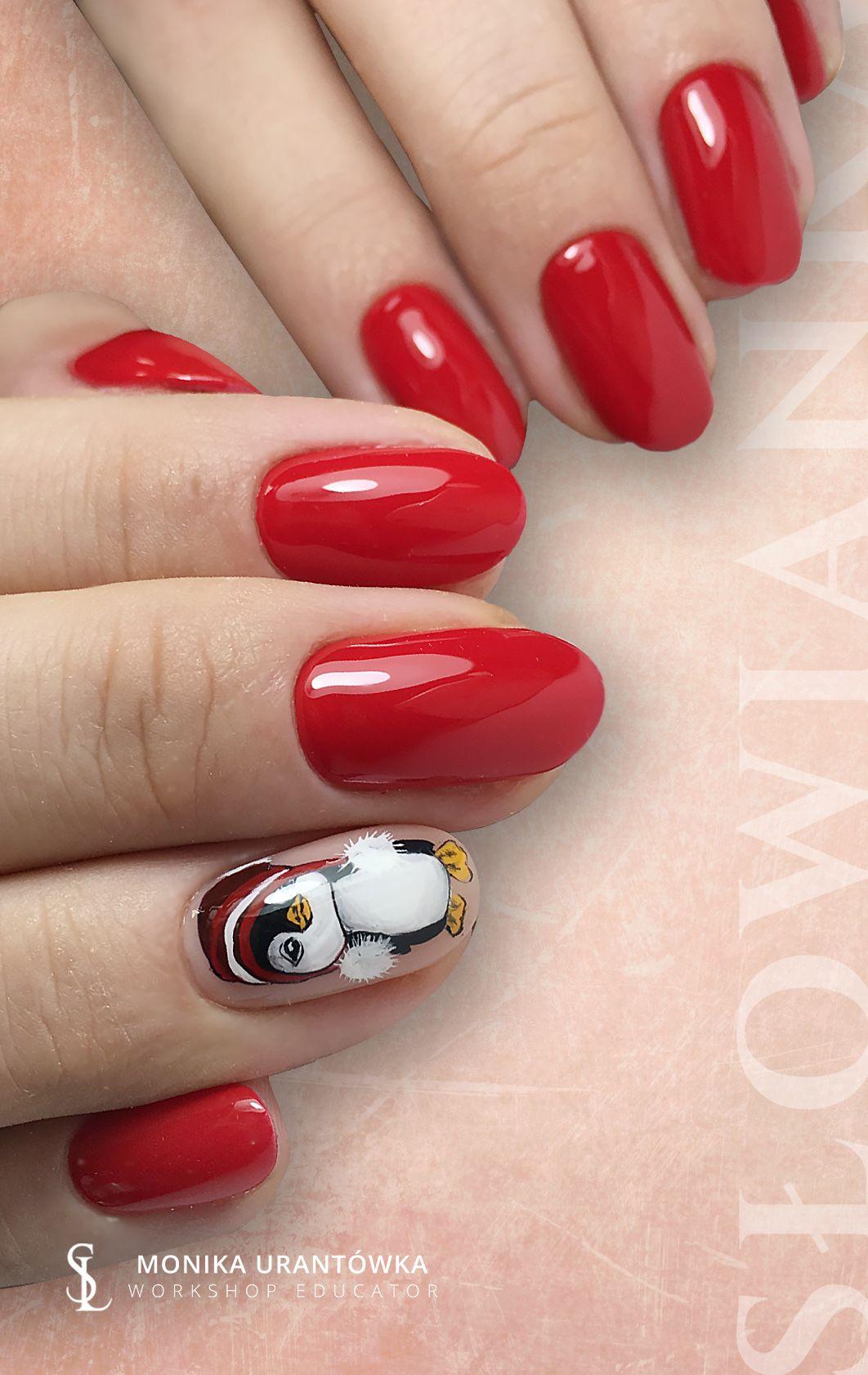 Pin By Slowianka Nail Trends On Nails Paznokcie Czerwone