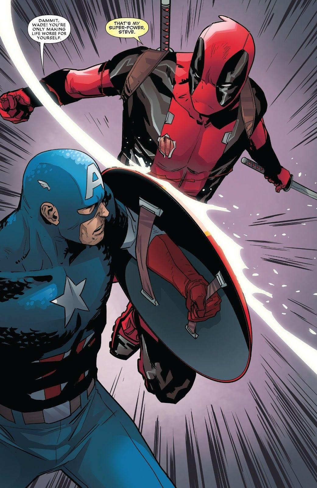 Captain America Vs Deadpool Despicable Deadpool 296 Deadpool Funny Comics Marvel Memes Marvel Deadpool