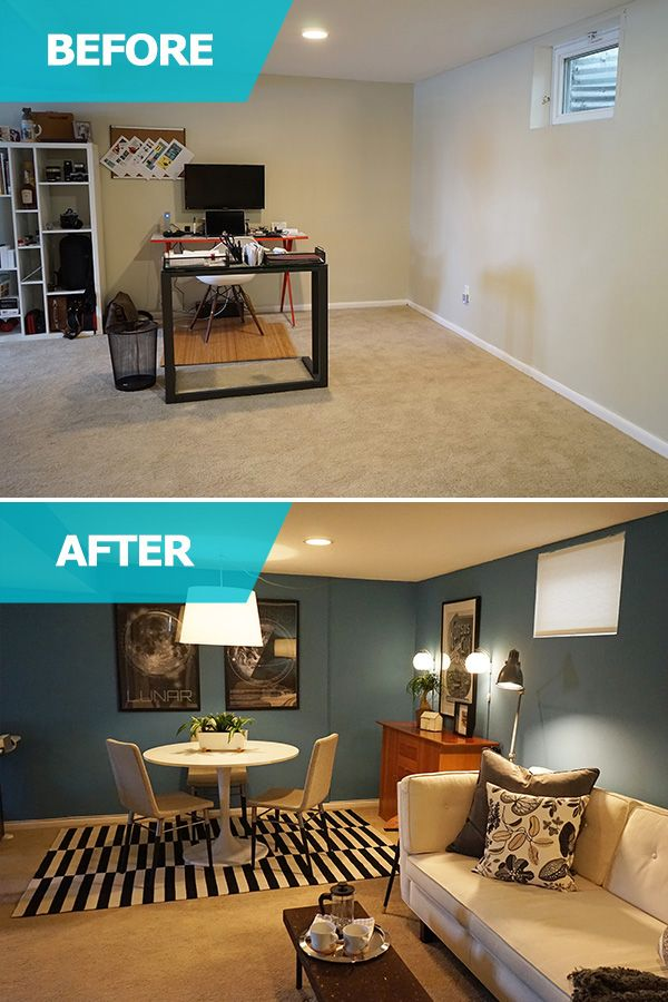 The IKEA Home Tour Squad Transformed Wade U0026 Kristyu0027s Basement Home Office  By Creating Different Areas