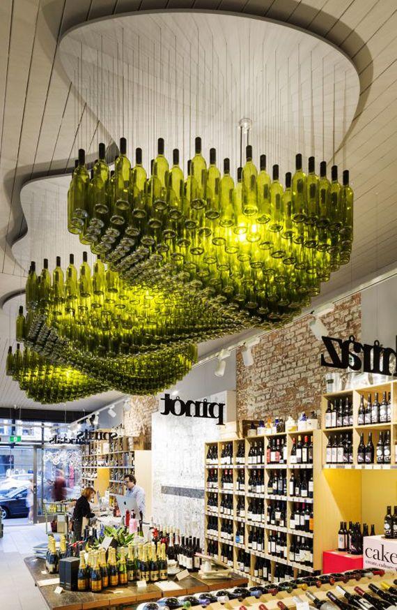 Inspirierende Bastel- und Upcycling Ideen mit Weinflaschen - Ideen Fur Deckengestaltung