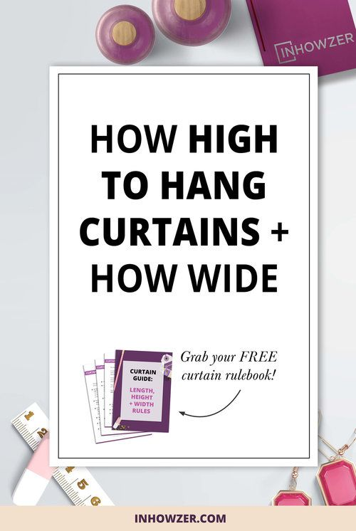 Hanging Curtains Should You Be From The Ceiling Its Not Easy To Know Where Curtain Rod I Explain How Work