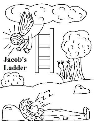 Jacob S Ladder Coloring Page Jacob S Ladder Sunday School