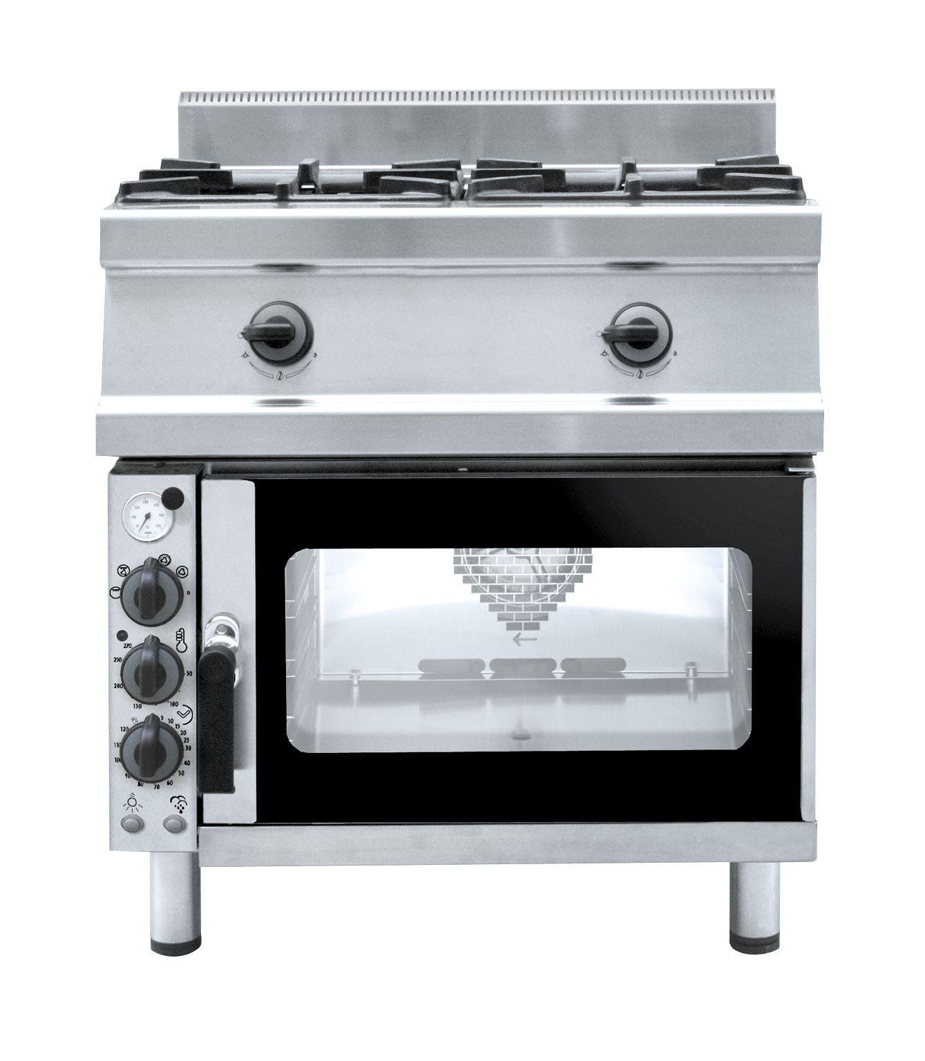 #cocina profesional con #horno a convección para espacios reducidos en cocinas que precisen producciones (www.pro-kitchens.com)