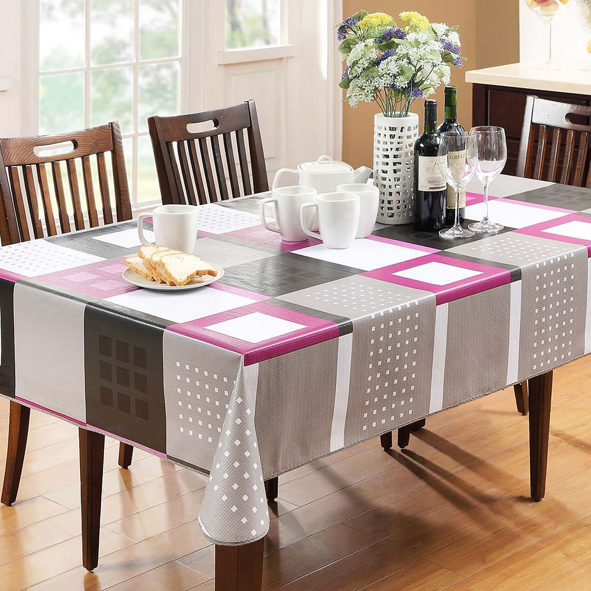 Epic 5 Awesome Dining Room Design With Bright Color Dining Table Ideas Https Freshouz Com 5 Awesome Din Table Cloth Cloth Table Covers Dining Room Tablecloth