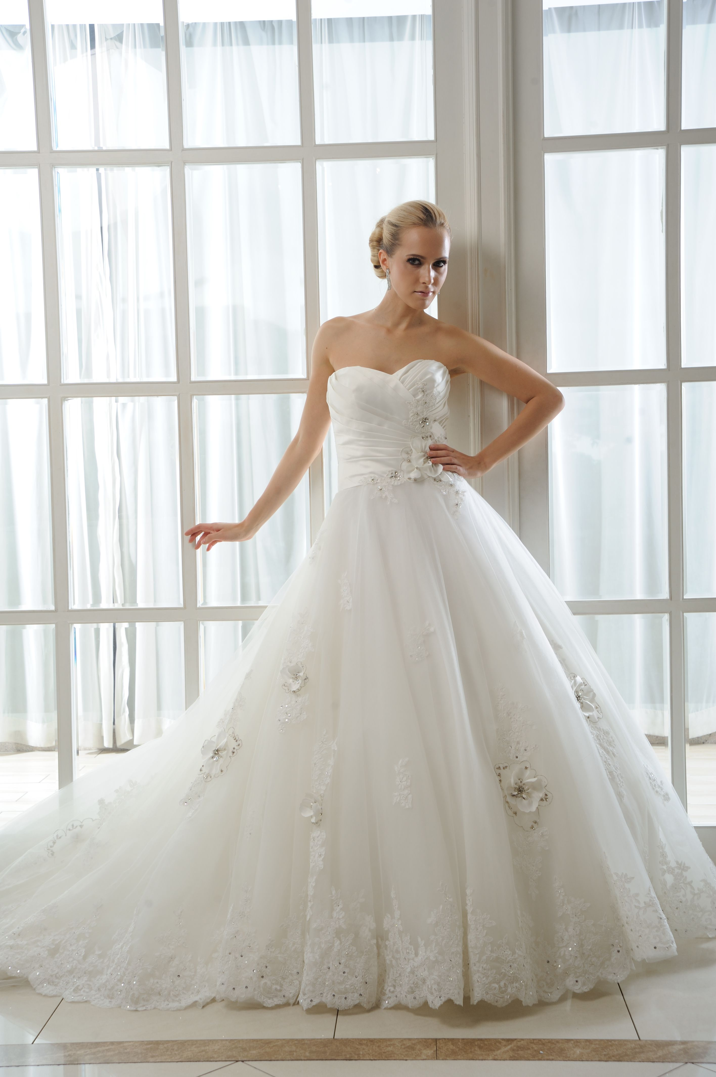 Destiny - Brides by Harvee lace and tulle floral wedding dress ...