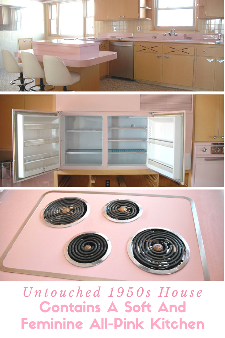 All Pink Kitchen Untouched 1950S House Contains A Soft And Feminine Allpink