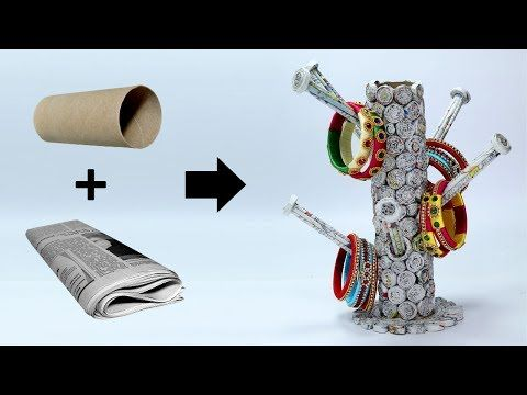 17162 how to make bangle stand with newspaper best out for Best out of waste useful