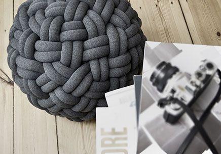 Gevlochten Knotty Poef : Gevlochten knotty poef diy pinterest poef krukje en minimalisme