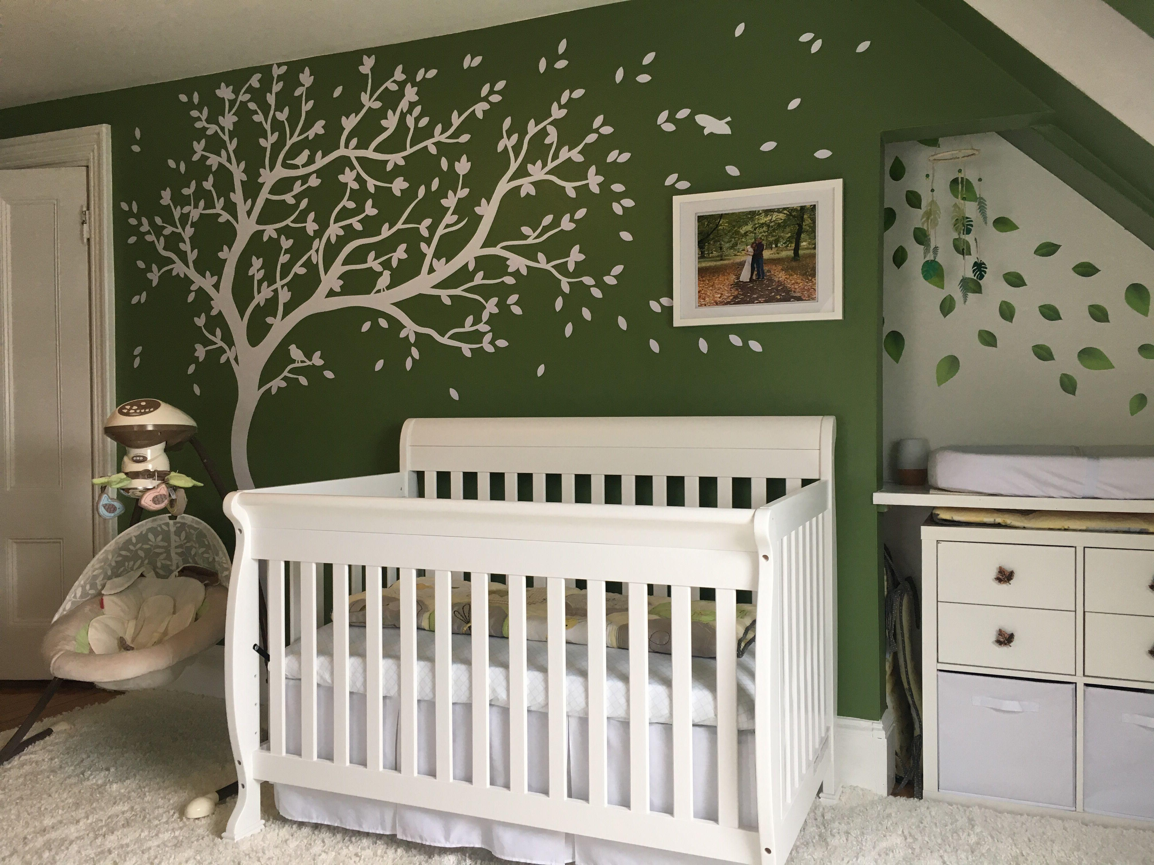 Green Treehouse Themed Nursery Room Nursery Room Room Nursery