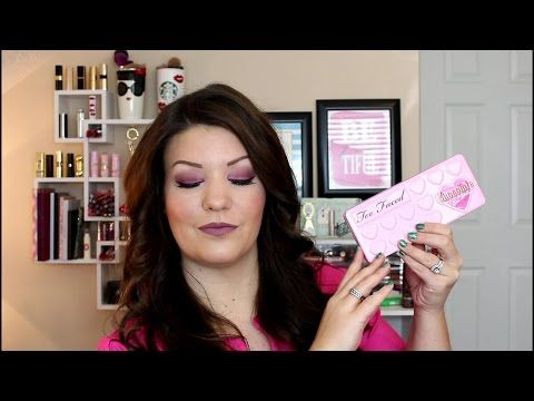 Pink Look | Using Too Faced Bon Bons Palette - YouTube