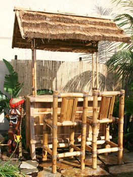 Add An Exquisite Bamboo Tiki Bar For The Ultimate Tropical Setting In Your Home And Garden