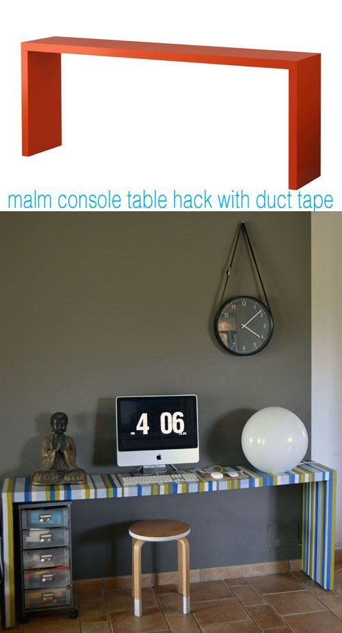 Ikea Malm Console Table Hacked With Duct Tape