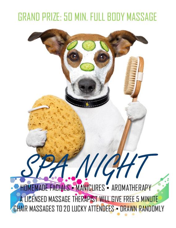 Spa Night Program Flyer For Resident Assistant Ra Floor Social