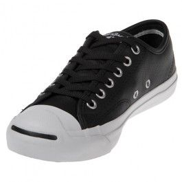 94680fec42e The Converse Jack Purcell Spec Leather Black White shoe is a stylish take  on a casual classic! Made of soft black leather with a thick comfort  insole