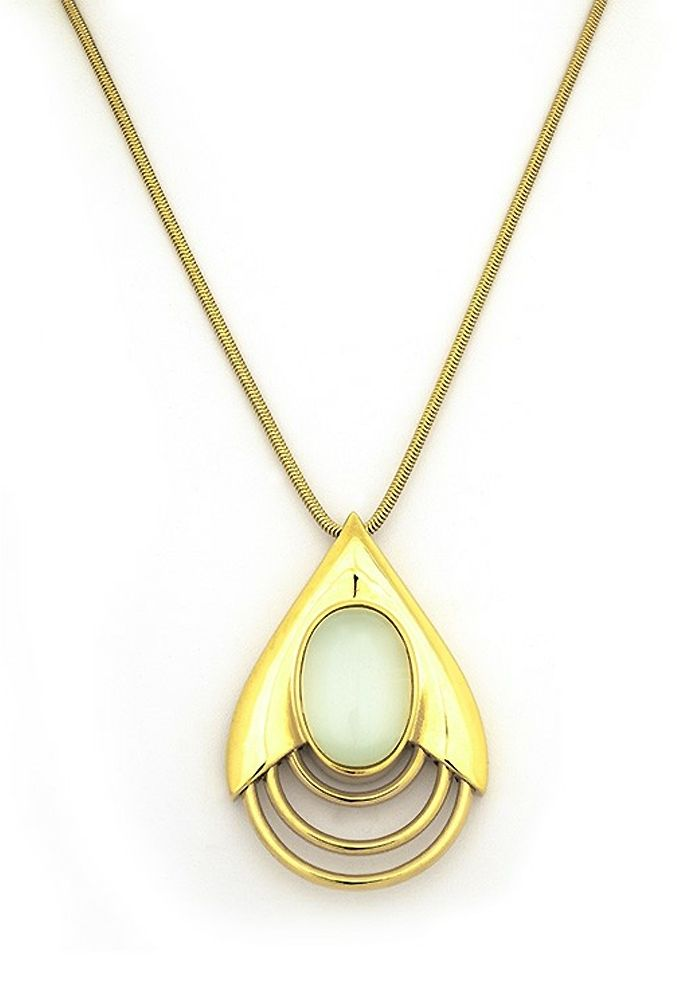 Special Offers Available Click Image Above: Belle Noel Teardrop Pendant Necklace - Gold With White