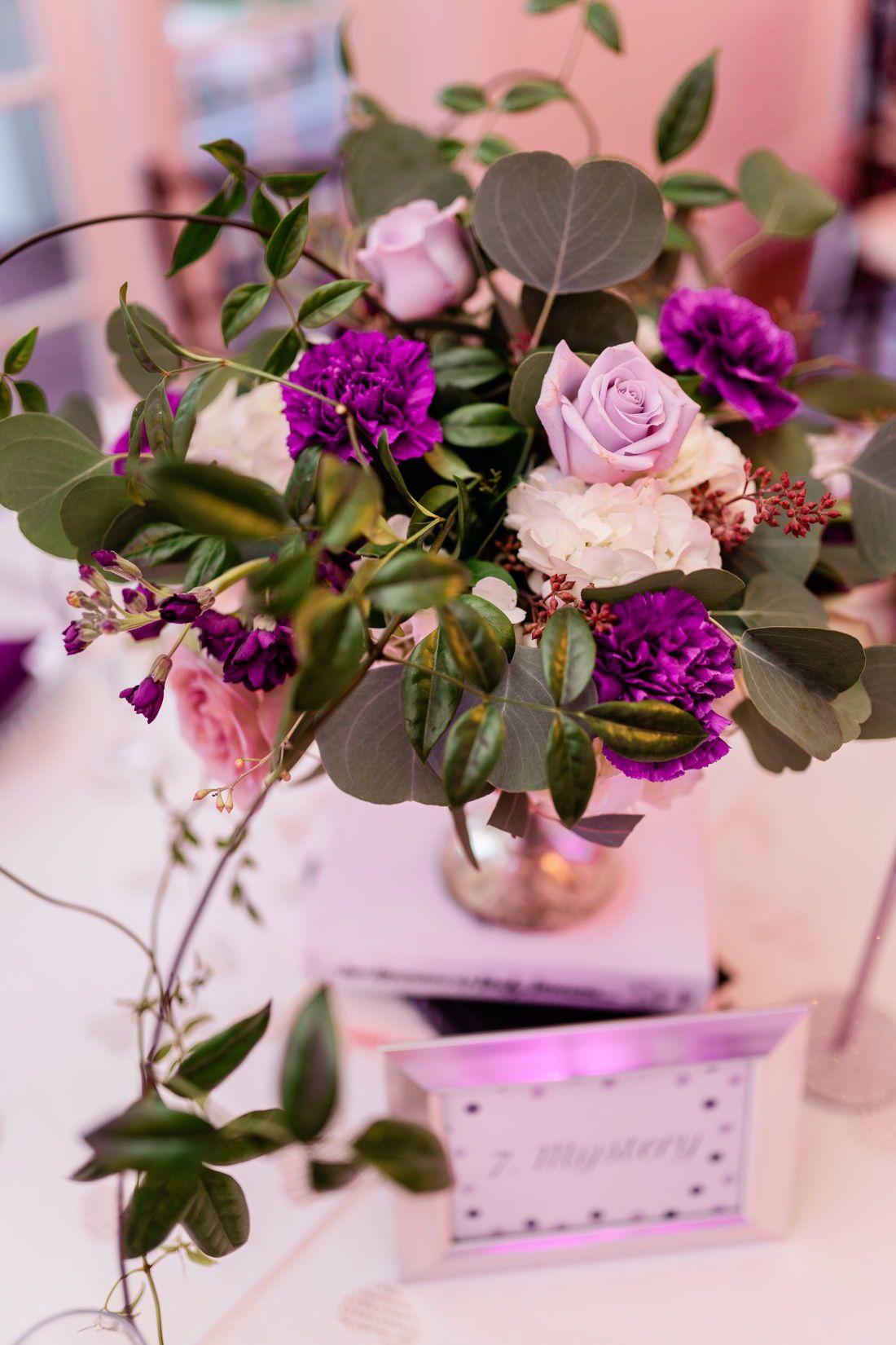 Luxmore Grande Estate Wedding Wedding Flowers Purple Wedding