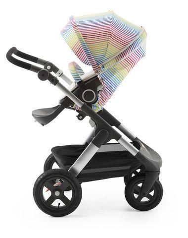 StokkeR TrailzTM With Stroller Seat And Multi Stripe Summer Kit