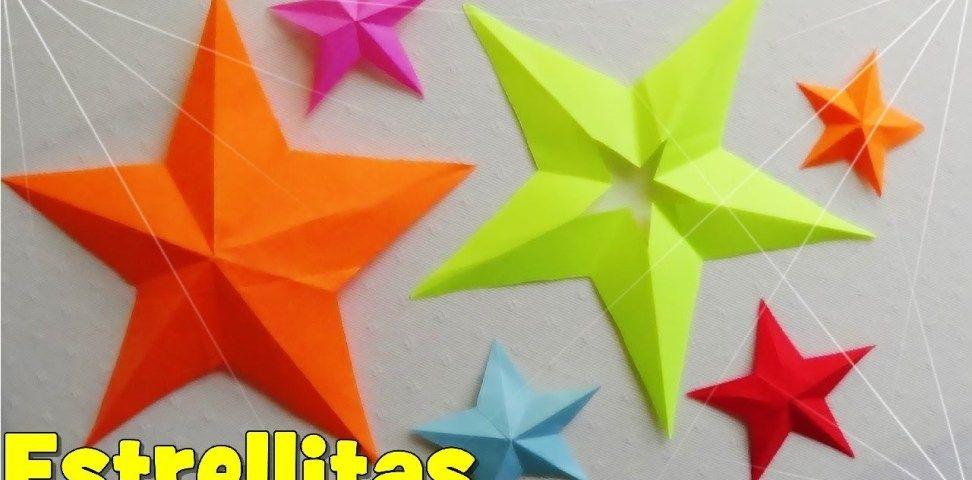 Cómo Hacer Una Estrella De Papel De 5 Puntas Estrellas De Papel Manualidades Sobres De Papel