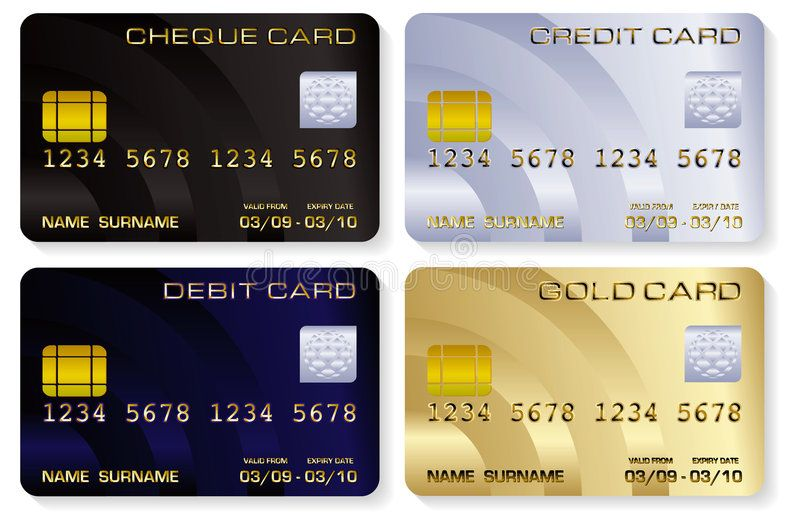 Credit Cards Vector Illustrations Of A Variety Of Realistic