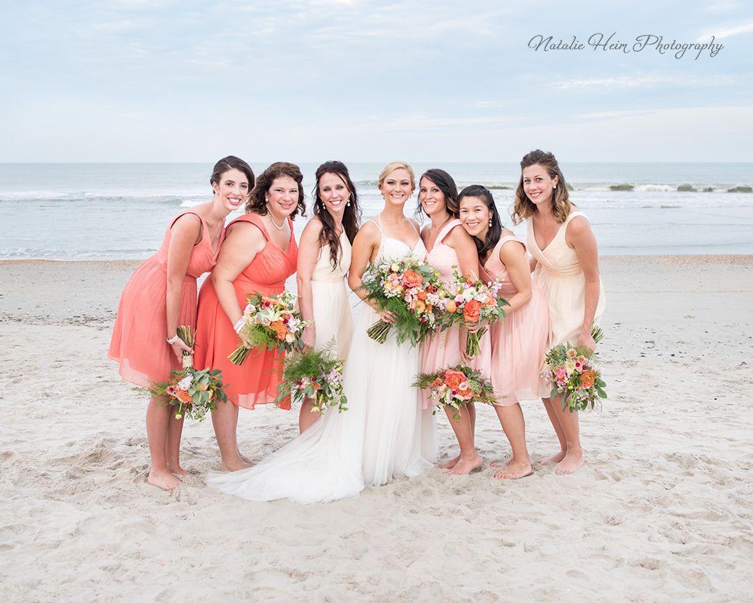 Beach wedding dresses guest  Bridesmaids Portrait Wedding Party Portrait Beach Wedding Outer
