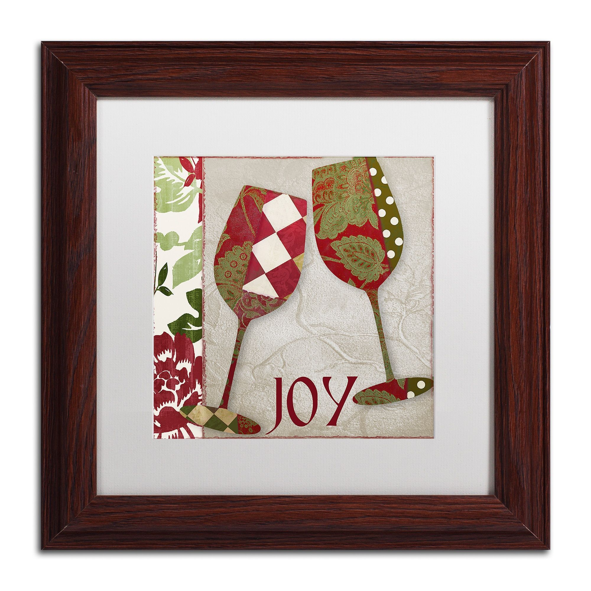 Color Bakery 'Holiday Cheer One' Matted Framed Art