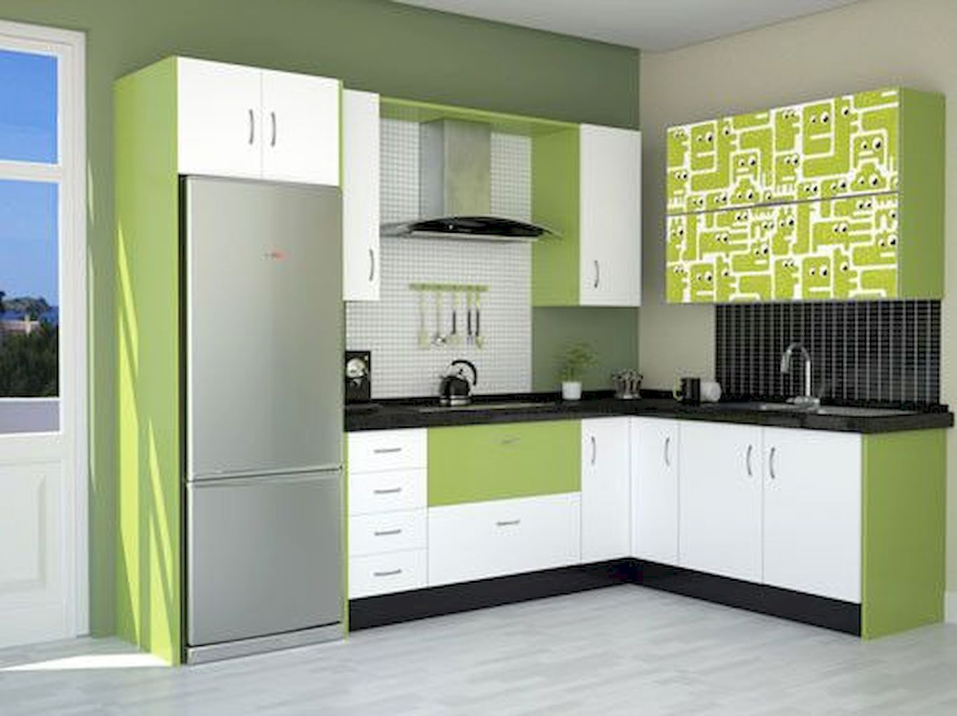 Pin By Habibyounis On Kitchen Redesign Pictures Modern Kitchen Cabinets Modern Kitchen Set Kitchen Furniture Design