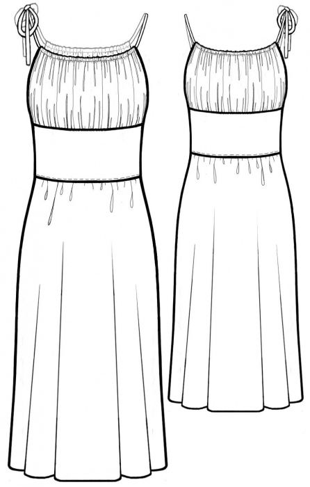 Dress With Gathered Bodice Sewing Pattern 5582 Designing
