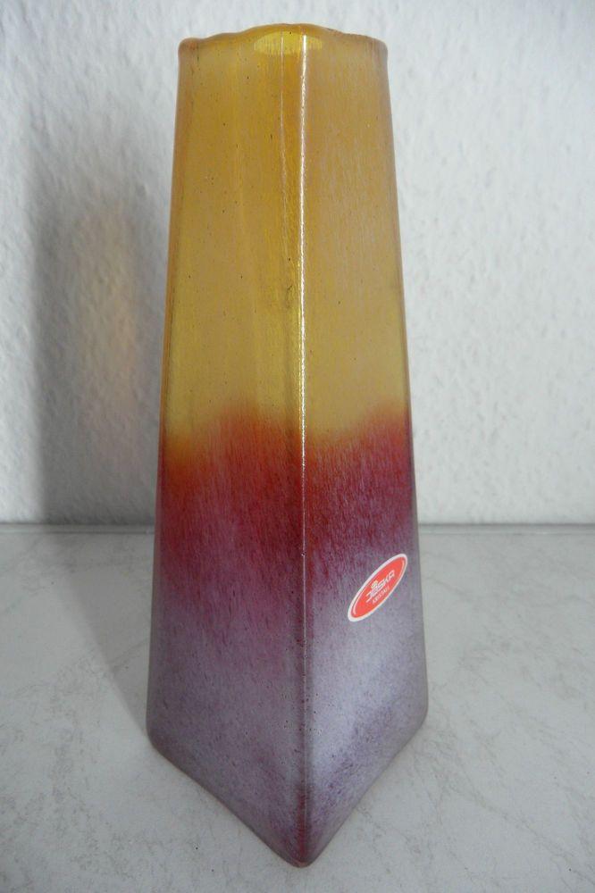 Sehr dekorative Studio Glas-Vase / Joska, sehr ausgefallene Form