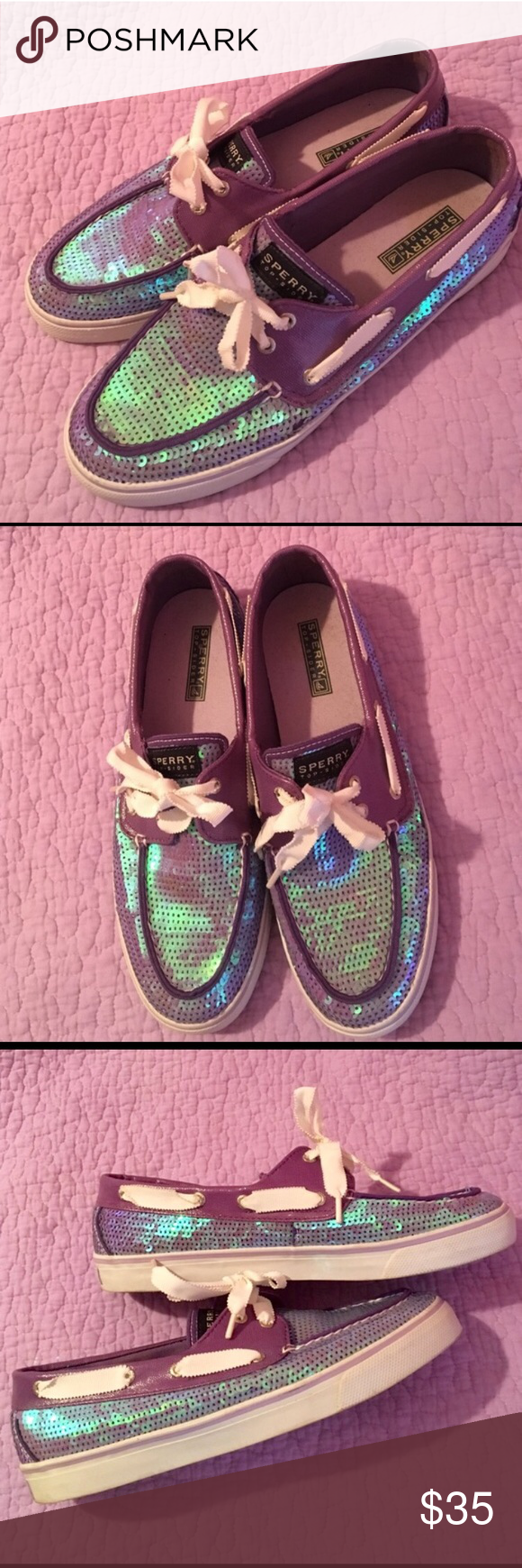 Women's Sperry boat shoes Women's Sperry's- purple sequin metallic size 9 Sperry Top-Sider Shoes Flats & Loafers