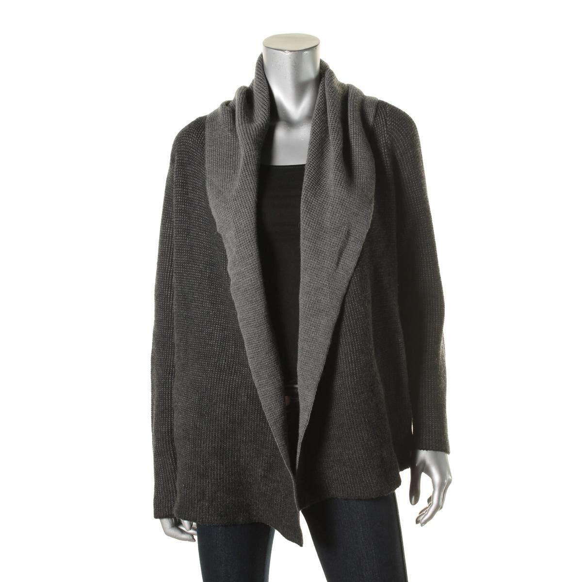 Womens Petites Merino Wool Hooded Cardigan Sweater | Eileen fisher ...