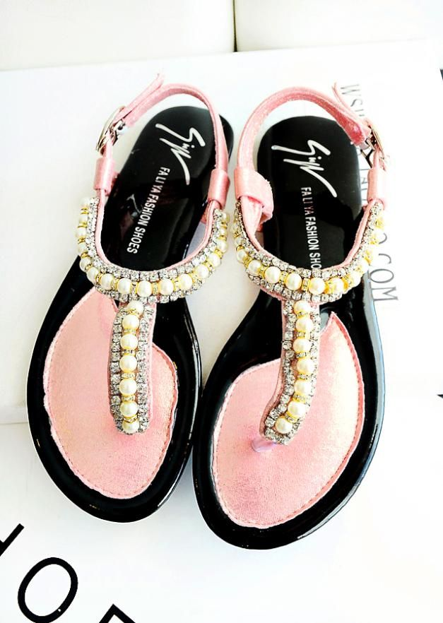 2014 fashion shoes, sandals, flat shoes flattie thong sandal shoes rhinestone beaded decorative wild section