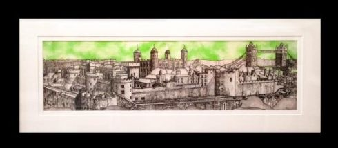 """""""Old Tower Hill In Leaf Green"""" by Jonnie Temple Original  The Royal Gallery www.theroyalgallery.co.uk/index.php?location=item&item=1315&art=Originals&source=2"""
