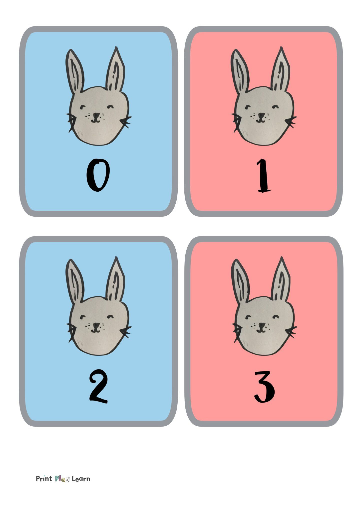 Easter rabbit flashcards 030 free teaching resources