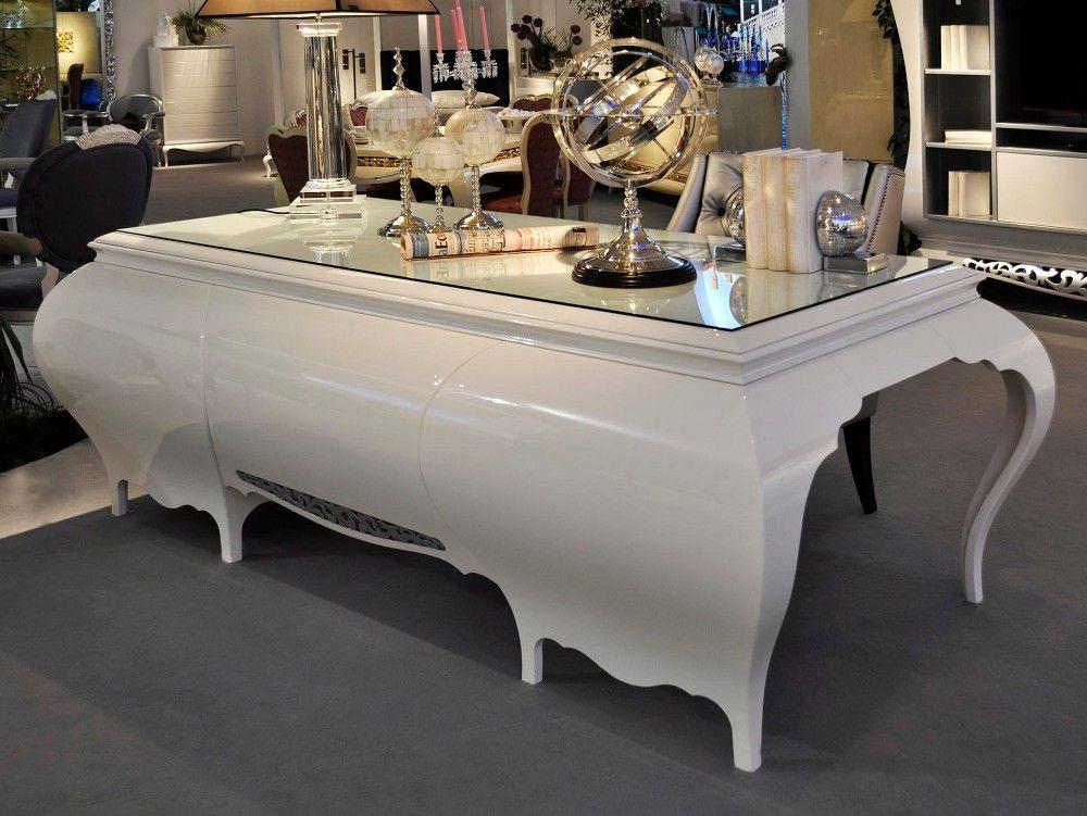desk luxury New York High Gloss Desk Dressing Table Luxury