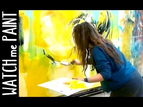 Acryl Giessschnur Pull Abstract Floral Painting Youtube