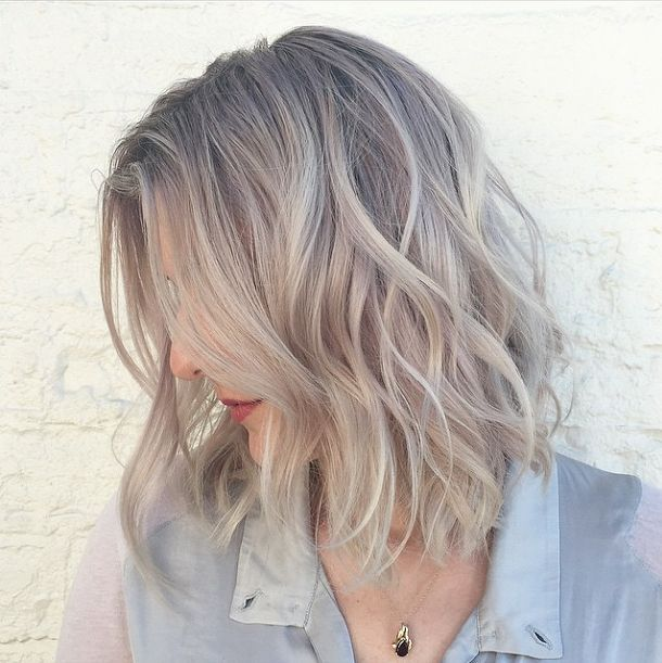 Image result for going from dyed blonde to natural grey | hair ...